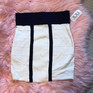 Forever 21 nautical mini skirt!